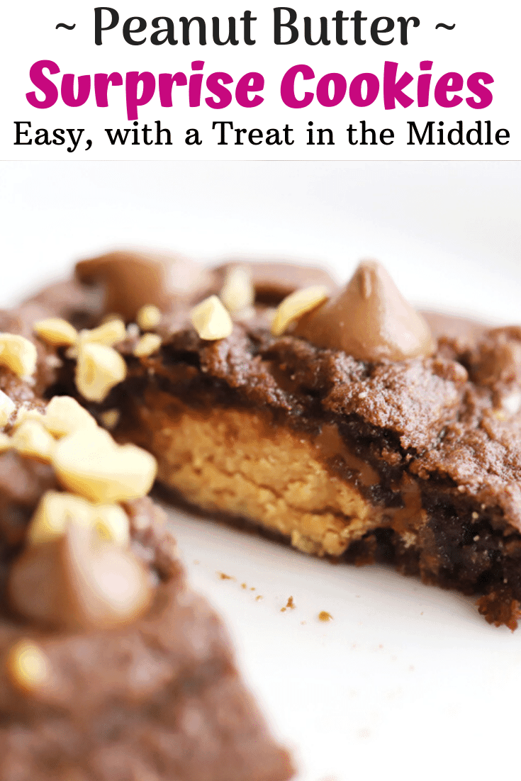 pinterest pin for chocolate surprise cookies