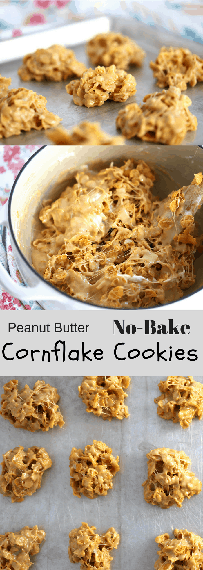Cornflake Peanut Butter Cookies | thecarefreekitchen.com
