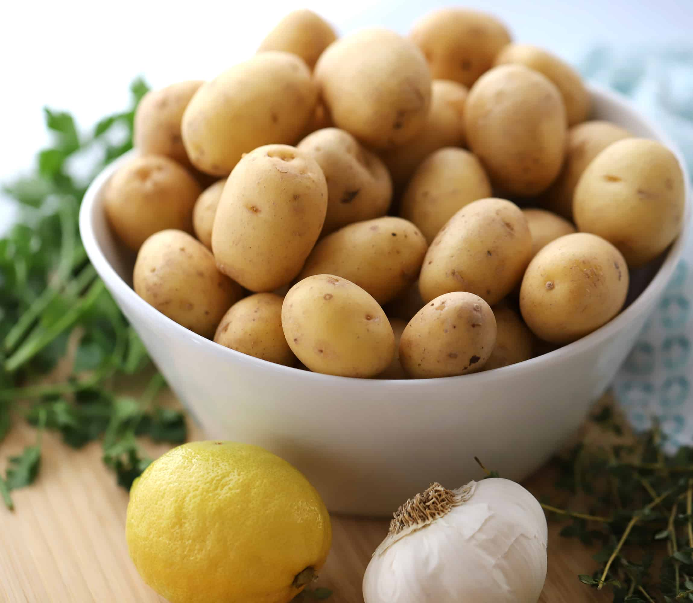 Ingredients for easy roasted potatoes | thecarefreekitchen.com