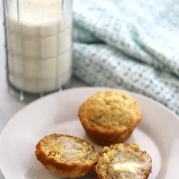 Easy Banana Muffin Recipe, simple ingredients, delicious every time!