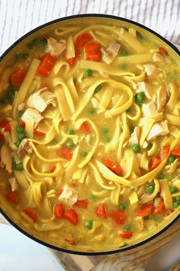 This 30 minute homemade chicken noodle soup is quick and easy!