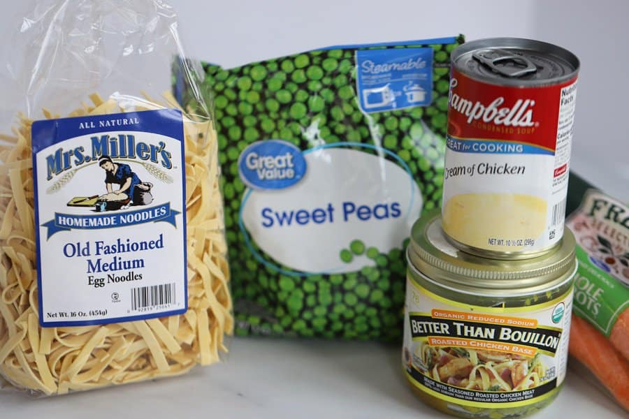 Here are the ingredients for this quick and easy 30 minute meal!
