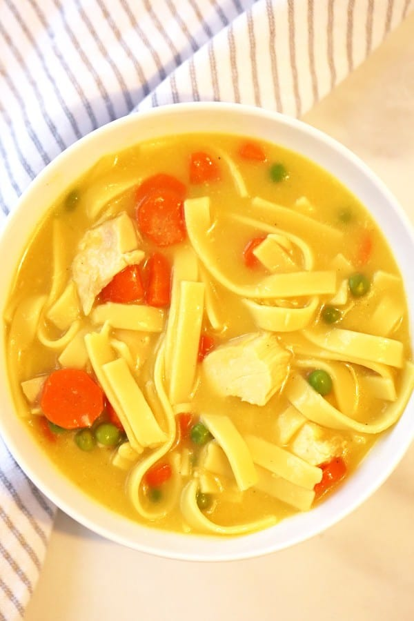 The entire family will love this quick and easy 30 minute chicken noodle soup recipe!