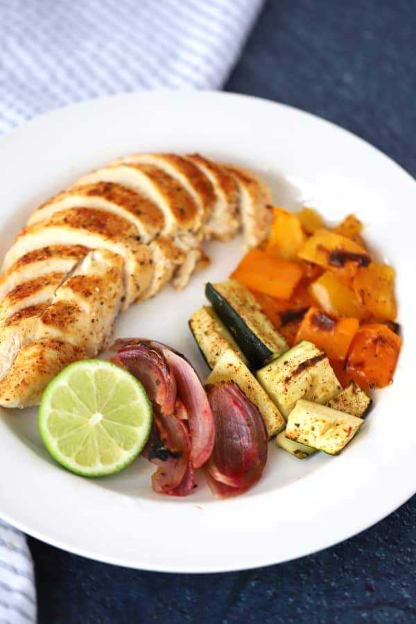 This sheet pan chicken and veggies meal is a hit every time! Beautiful and delicious!