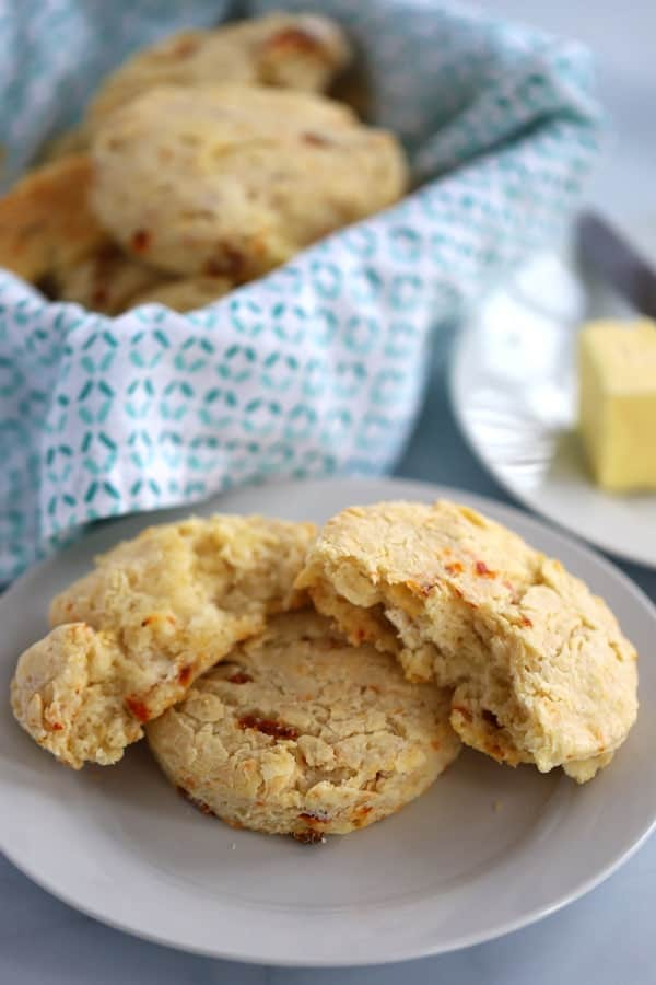 Parmesan and sun-dried tomato and biscuits are a tasty and flaky biscuit every one will love!