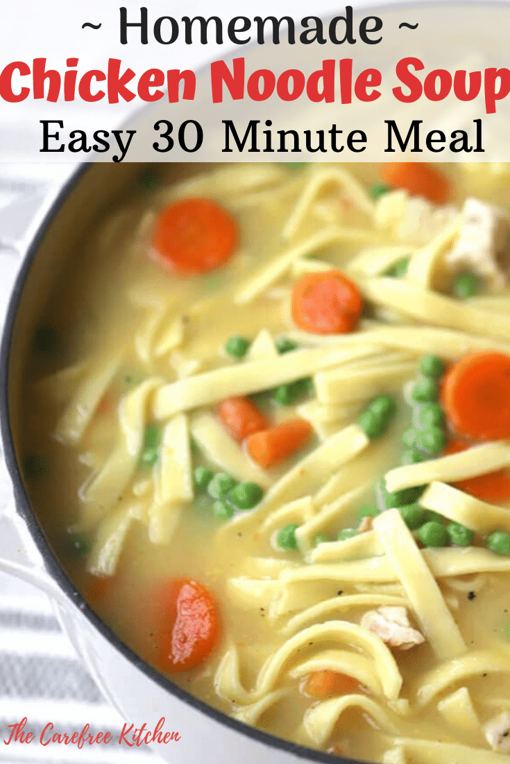 pinterest pin for chicken noodle soup