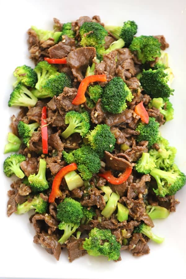 Beef and Broccoli Teriyaki with a sweet homemade teriyaki glaze