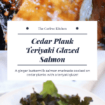 This sweet Teriyaki Glazed Salmon recipe is ah-maaazing! It's going to become your new favorite salmon dinner recipe! This is a cedar plank salmon grill recipe which means the fishy smell stays outside and most of the mess too!