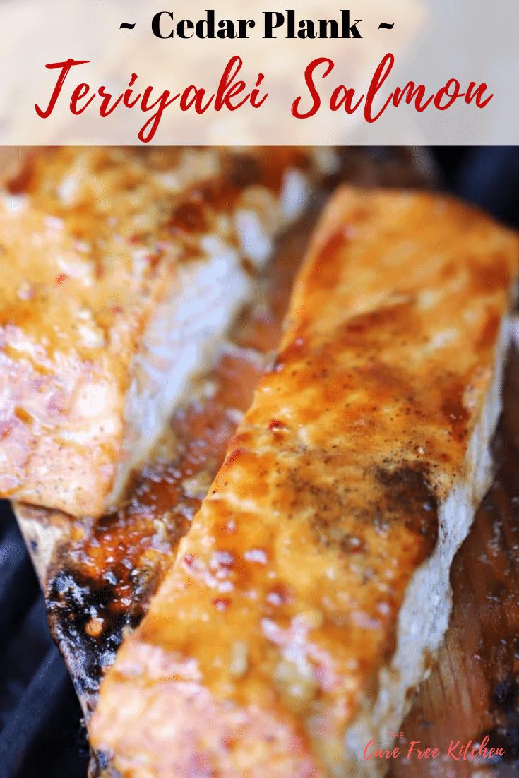 Teriyaki salmon on a cedar plank
