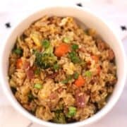 ham stir fry recipes, left over ham, veggies and fried rice