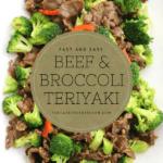 Beef and Broccoli teriyaki-Homemade teriyaki sauce with beef and broocoli stir fry