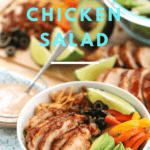 Barbecue grilled chicken salad with a tangy barbecue ranch dressing