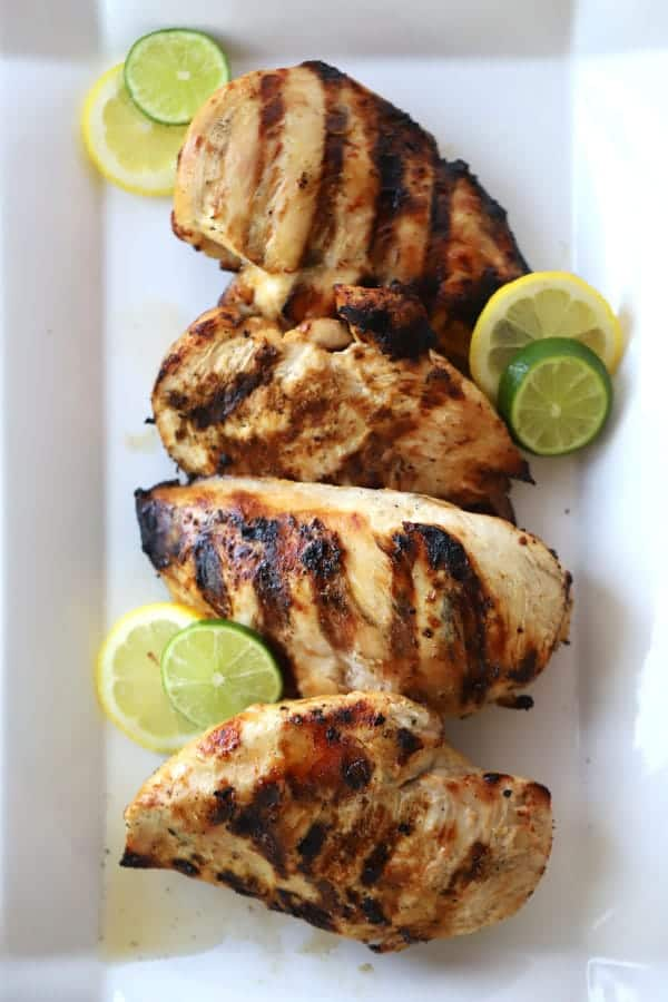 grilled citrus chicken recipe, perfect for salads, sandwiches or with your favorite sides.