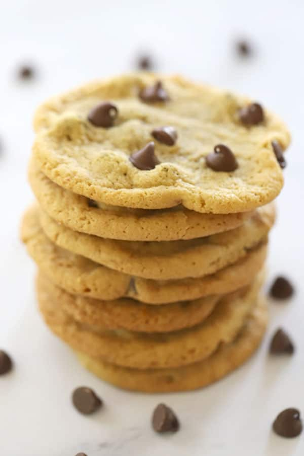 A stack of einkorn cookies