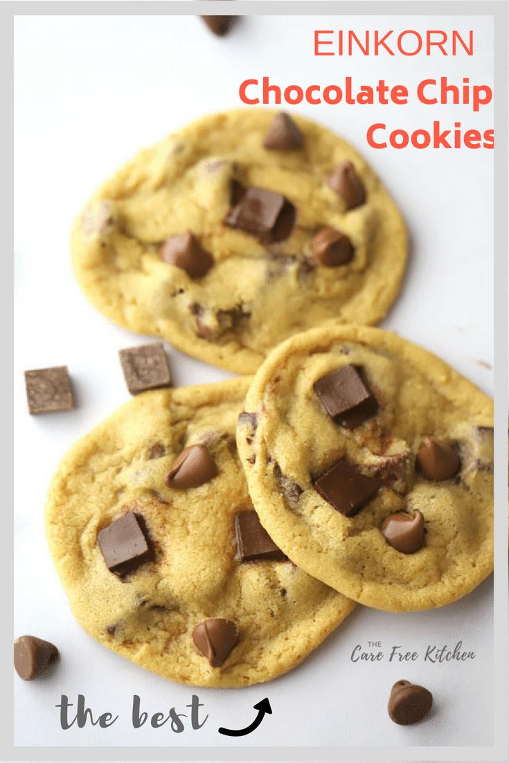 Einkorn Chocolate Chip Cookies