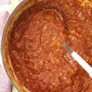 Homemade Marinara made from scratch with simple ingredients