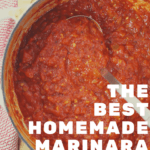 The best homemade marinara sauce made from scratch using simple ingredients.