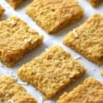 These Coconut Cookie Bars recipe is for you!! They are chewy, and just a little crispy on top, and packed with loads of sweet coconut! These amazing cookie bars are going to be your family favorite in no time!