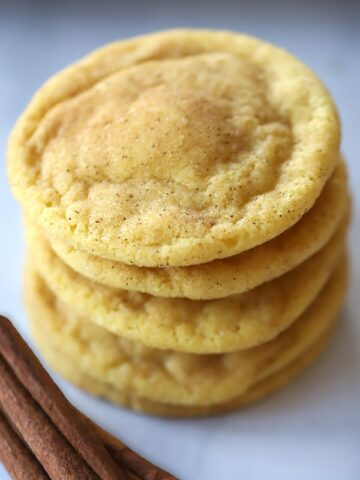 Soft and chewy einkorn Snickerdoodles.