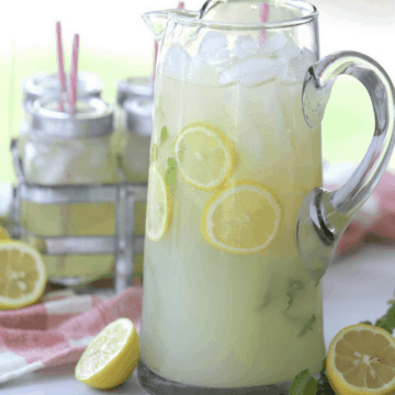 Mint lemonade is made with simple ingredients