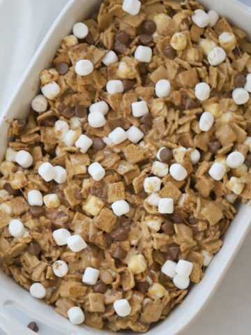 These peanut butter no bake smore bites are easy and delicious.