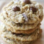 coconut chocolate chip oatmeal coconut cookie, the best, no fail cookie recipe