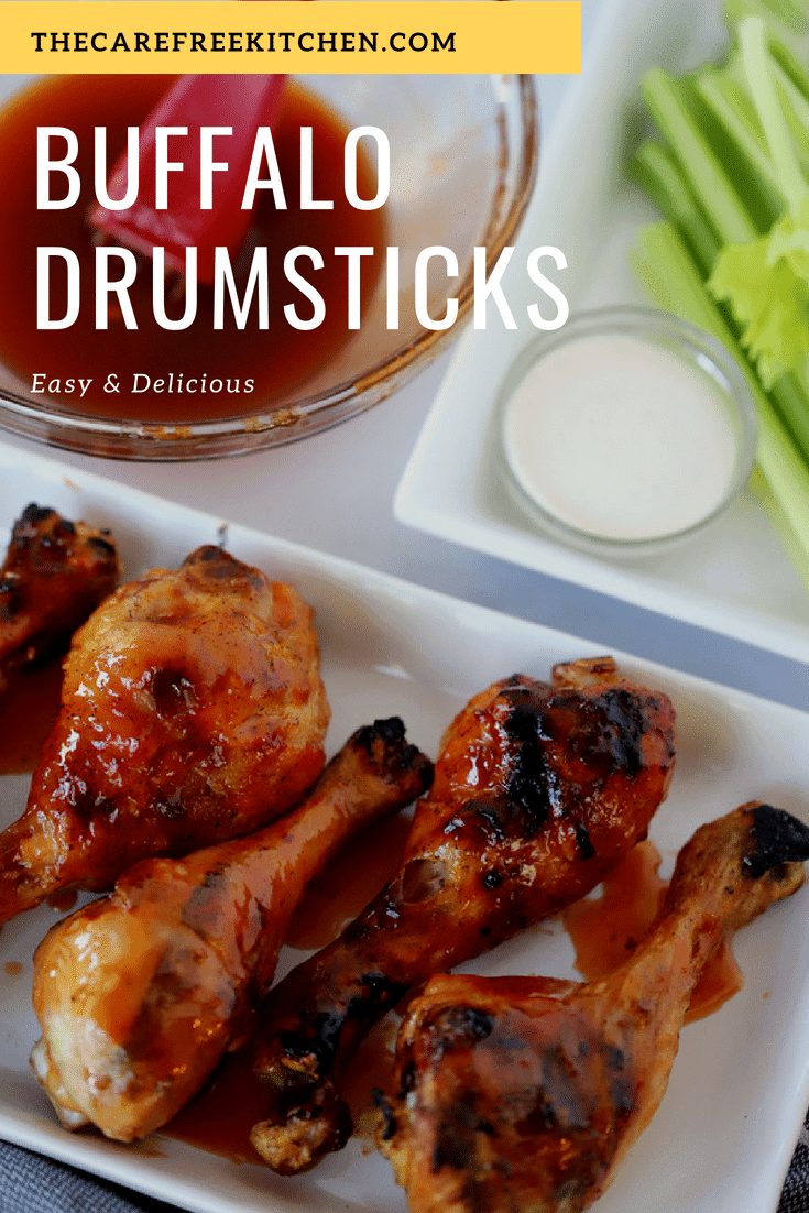 This easy grilled chicken recipe is a huge hit! If you love buffalo chicken, this will soon be a family favorite! Grilled Buffalo Chicken drumsticks easy and perfect for just about any time of the year.