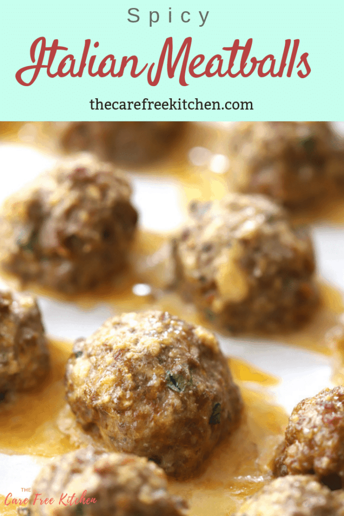 pinterest pin for Italian meatballs