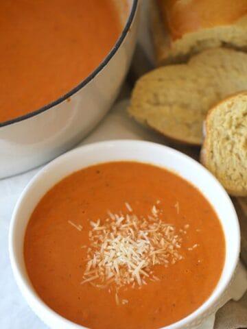 roasted tomato basil soup recipe