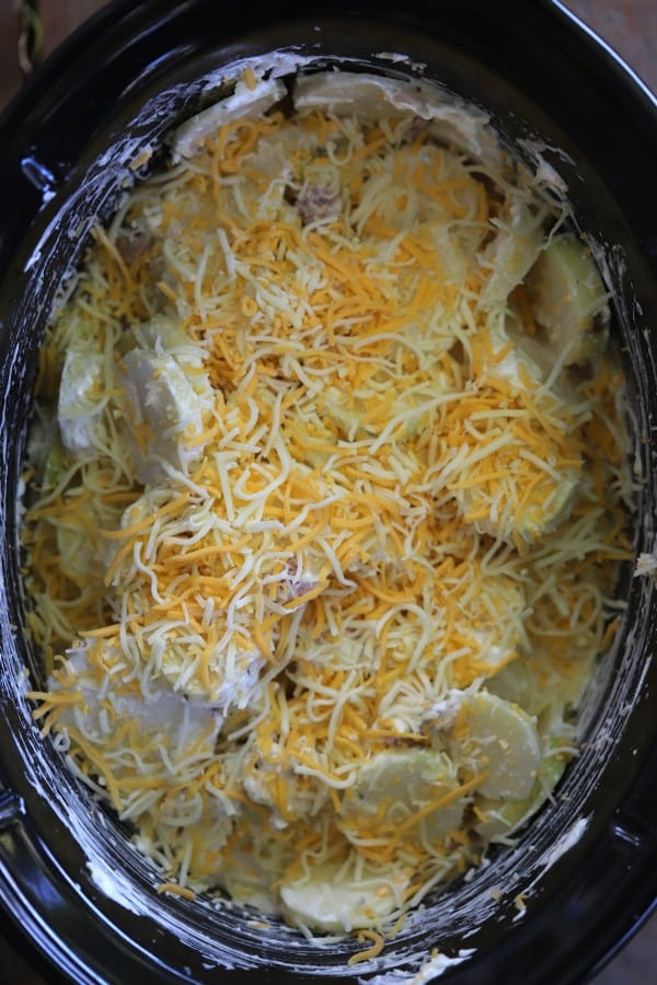 scalloped potatoes in a slow cooker