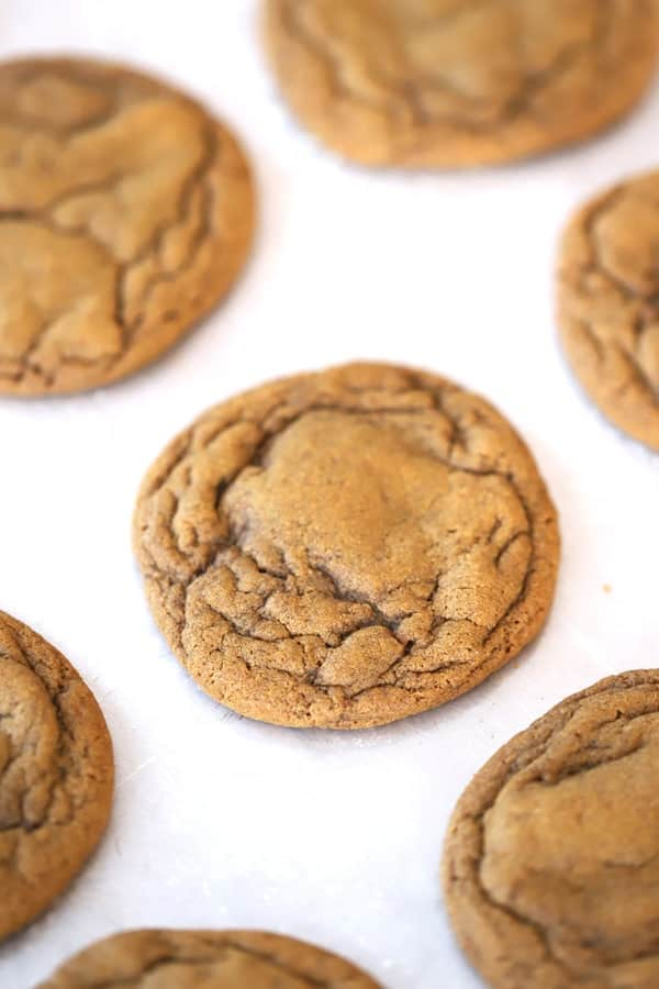 molasses cookie recips, cookies on a white surface