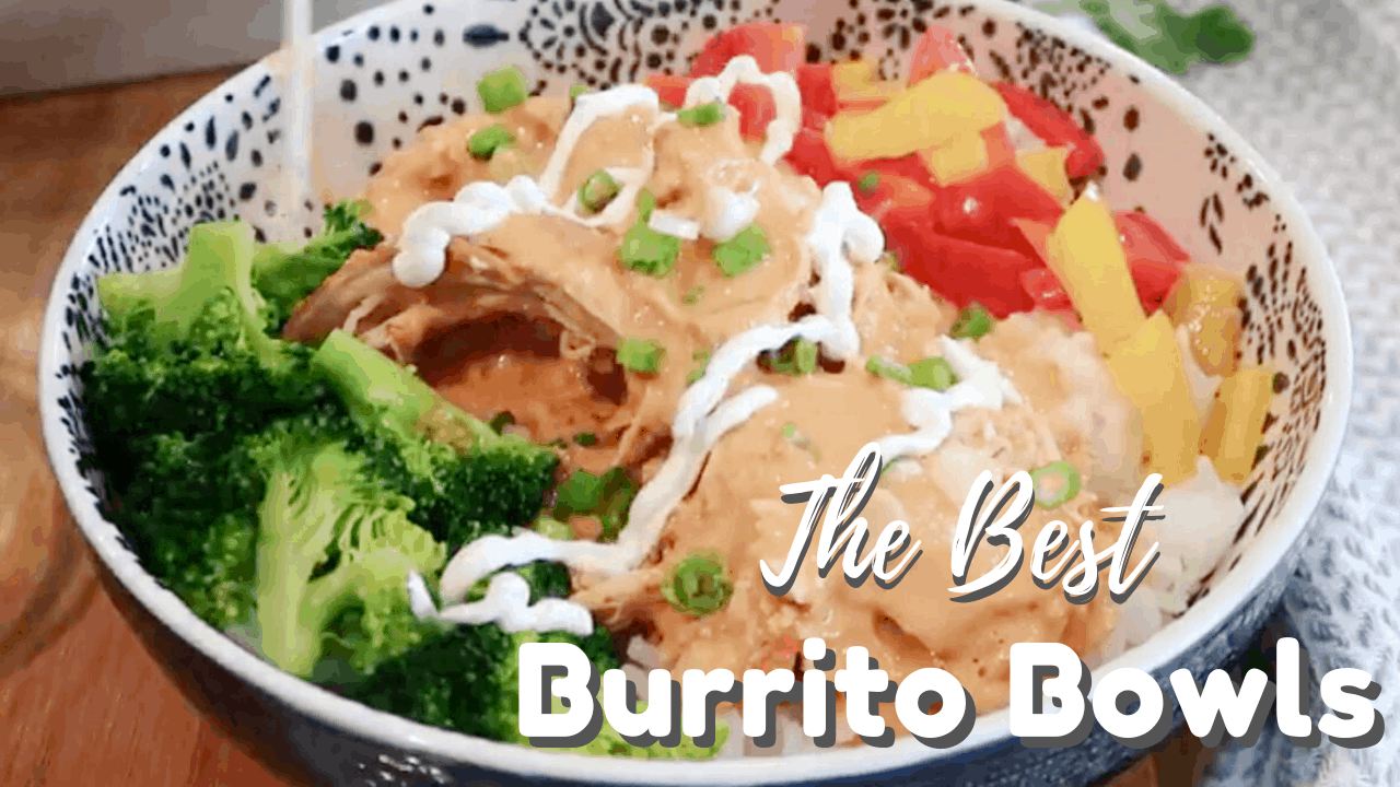 burrito bowl made with creamy salsa chicken