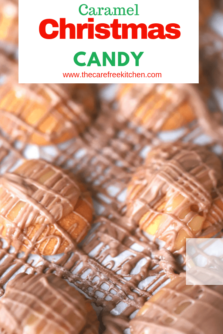 christmas candy on parchment paper