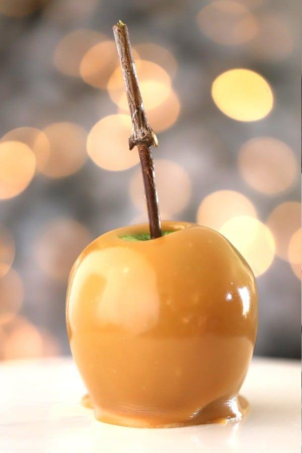 caramel apple, christmas candy