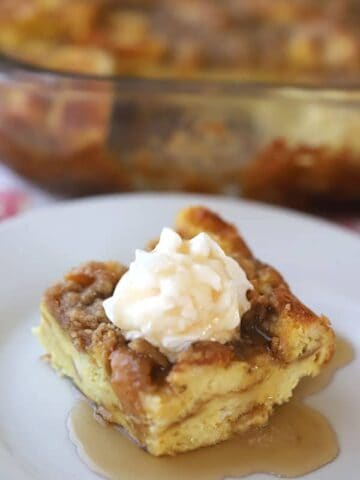 This is a classic French Toast Bake or Overnight French Toast Recipe. It's made with simple ingredients and is so easy to make!