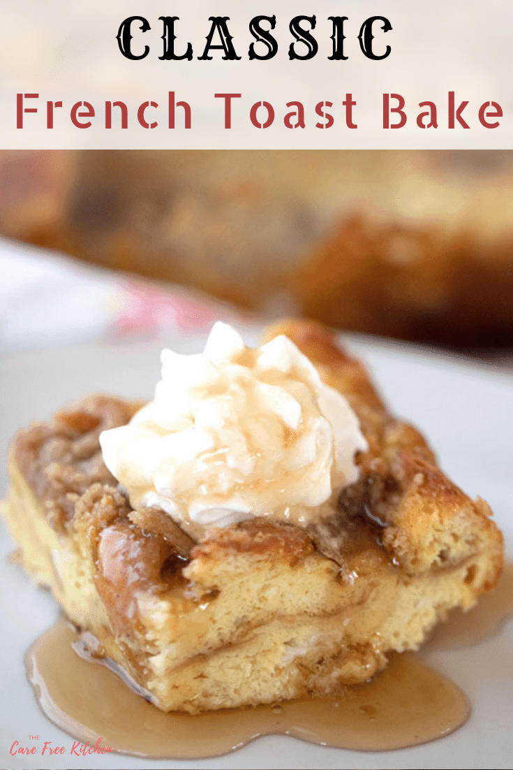 pinterest pin for Classic French Toast Bake