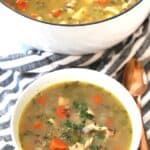turkey soup with wild rice and leftover turkey