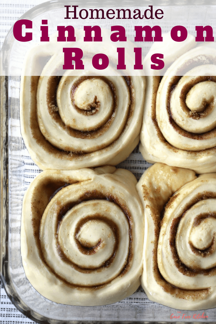 pinterest pin for homemade cinnamon rolls