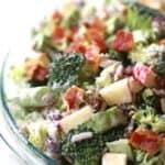 raw broccoli salad with bacon