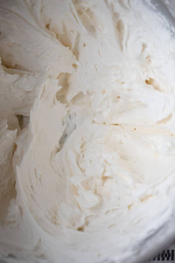 recipe for the best buttercream frosting recipe in a metal bowl