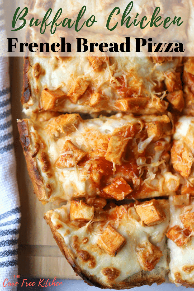 French Bread Pizza is a favorite around here!  Barbeque Chicken French Bread Pizza, Buffalo Chicken French, and the classic Pepperoni French Bread Pizza a few of the regulars.  It's a quick and easy weekday meal everyone will love.