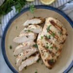 healthy garlic rosemary chicken