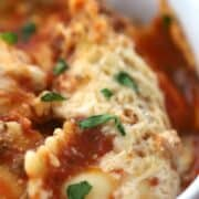 crockpot lasagna with ravioli