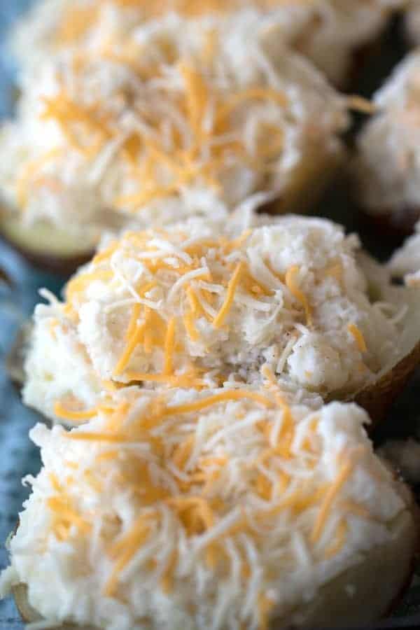 uncooked twice baked potatoes