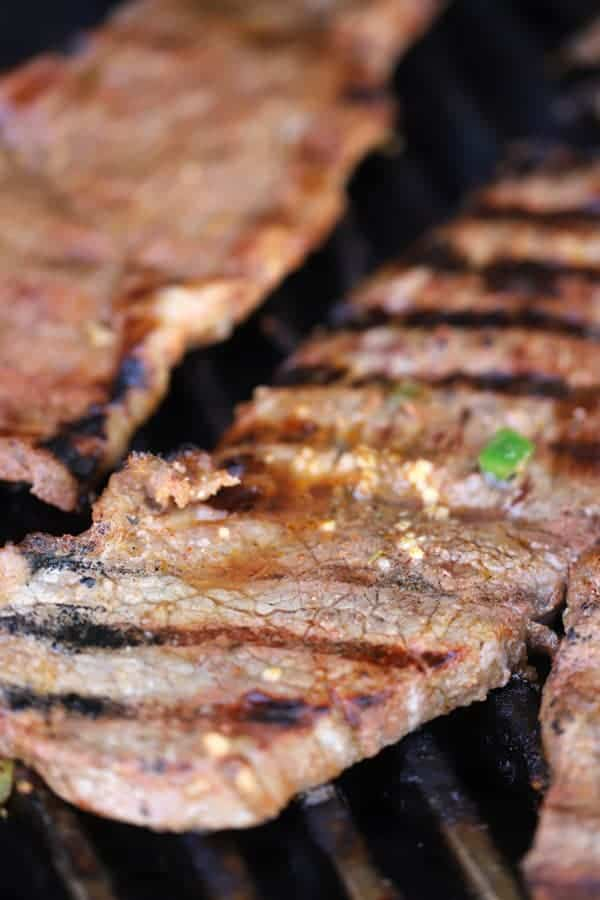 mexican carne asada on the grill