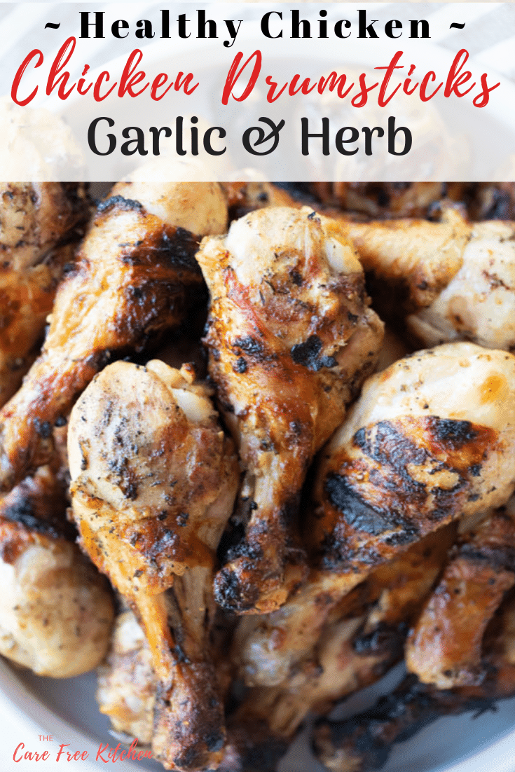 This Garlic and Herb Chicken Drumstick Recipe is an easy and healthy dinner option. They are marinated in a combination of olive oil, minced garlic, herbs, and lemon juice and then grilled or baked to perfection.  It's an easy chicken drumstick recipe and a perfect addition to your dinner rotation.