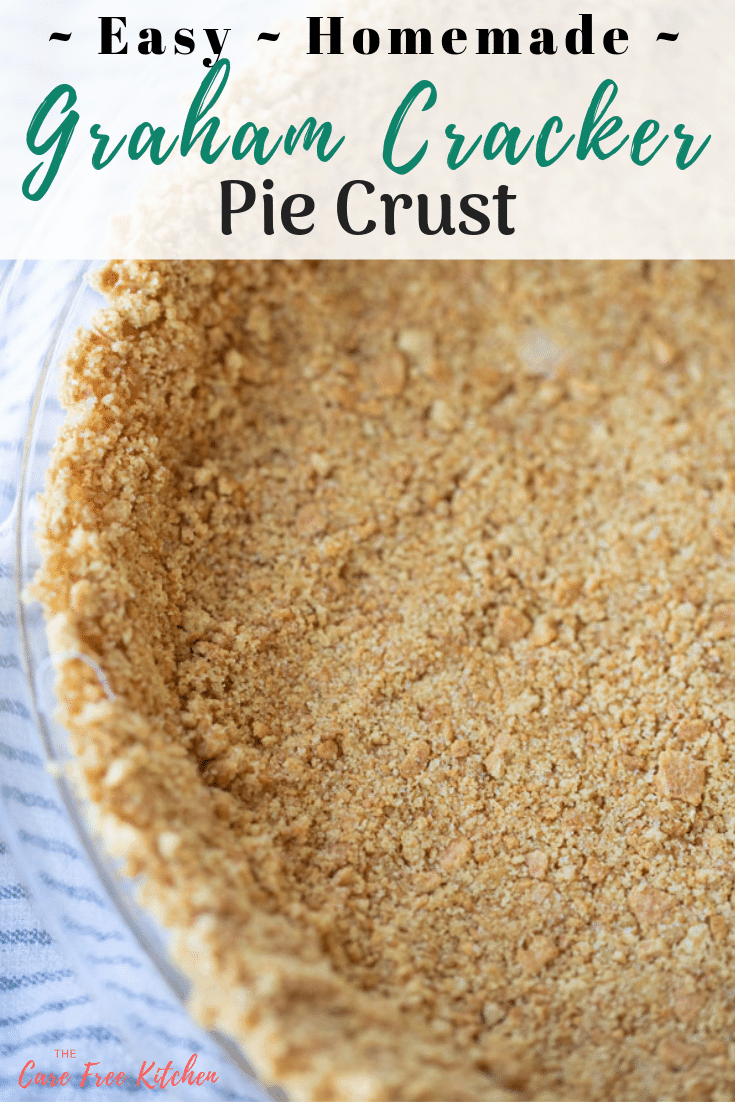 "Graham Cracker Crust in a 9"" pie shell"