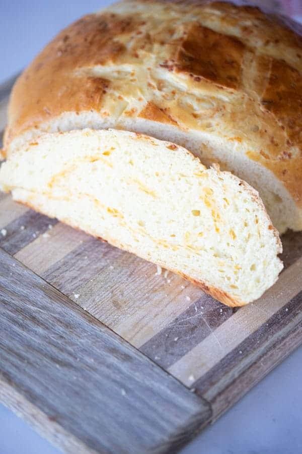 Rustic Cheddar Cheese Bread Recipe