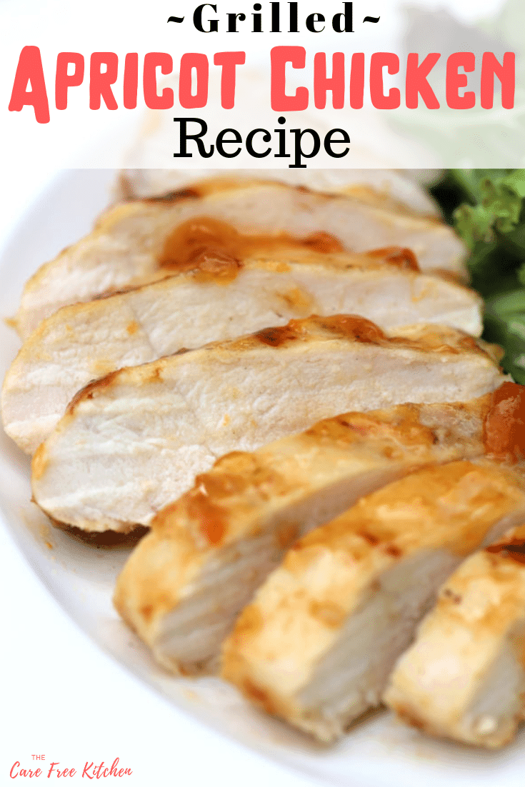 pinterest image for apricot chicken marinade