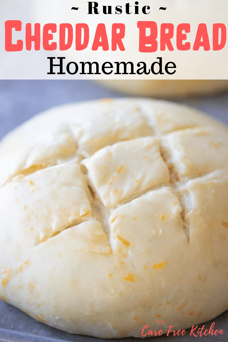 Pinterest pin for Rustic Cheddar Cheese Bread
